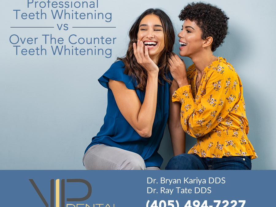 Professional Teeth Whitening vs Over The Counter Teeth Whitening